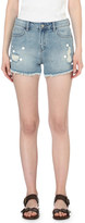 Mo&Co. Mid-rise denim shorts