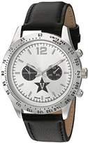 Game Time Men's 'Letterman' Quartz Metal and Leather Casual Watch, Color:Black (Model: COL-LET-VAN)
