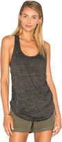 Heather Linen Shirred Side Tank
