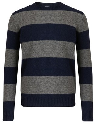Hartford Shetland Big Stripe round neck jumper