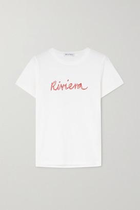 Bella Freud Riviera Printed Organic Cotton-jersey T-shirt