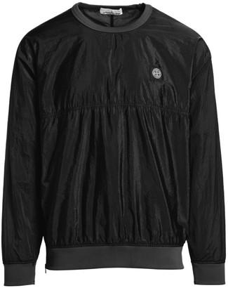 Stone Island Shiny Smock-Detailed Sweatshirt