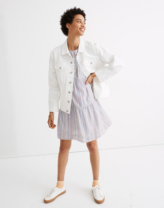 Madewell The Oversized Trucker Jean Jacket in Tile White
