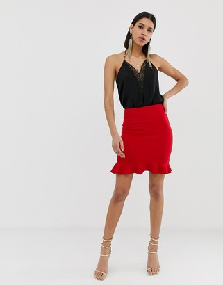 AX Paris frill hem mini skirt