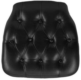 Flash Furniture Hard Tufted Vinyl Chiavari Chair Cushion Flash Furniture Color: Black