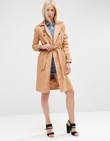 Asos Trench with Topstitch Detailing