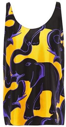 Lanvin Printed Silk-satin Twill Tank