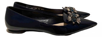 Christian Dior Blue Patent leather Flats