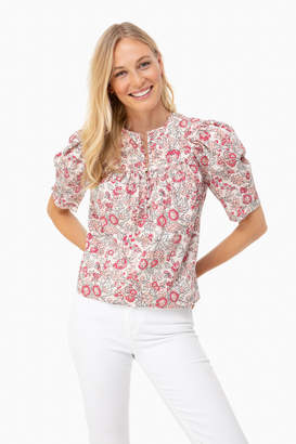 Rebecca Taylor La Vie By Light Nectar Short Sleeve Falaise Top