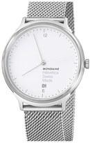 Mondaine 'Helvetica No.1 Light' Round Mesh Strap Watch, 38mm