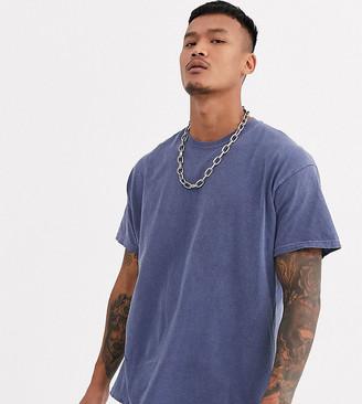 Reclaimed Vintage inspired oversized overdye t-shirt in blue