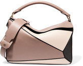 Loewe Puzzle Color-block Leather Shoulder Bag - Pink