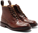 Tricker's - Stow Burnished-leather Brogue Boots