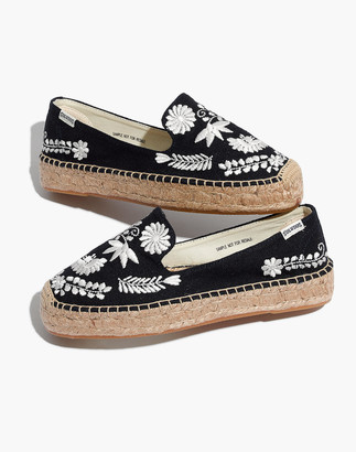 Madewell Soludos Embroidered Ibiza Smoking Slippers