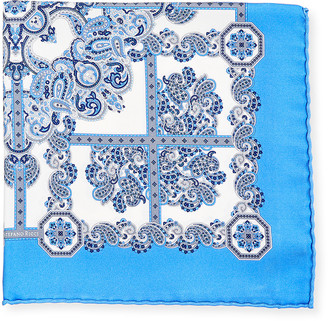 Stefano Ricci Men's Patterned Silk Pocket Square
