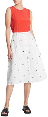 Marcs Pina Colada Embroidered Skirt