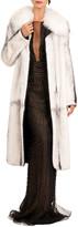Burnett New York Short Mink Fur Coat W/ Detachable Fox Collar