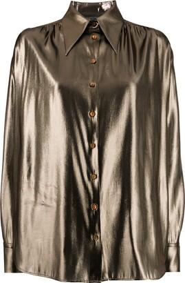 Alberta Ferretti metallic finish shirt