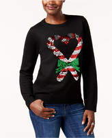 Karen Scott Sequined Holiday Sweater, Created for Macy's