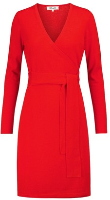 Diane von Furstenberg Linda wool and cashmere wrap dress