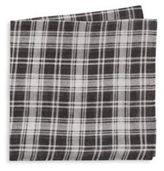 Saks Fifth Avenue Plaid Linen & Silk-Blend Pocket Square