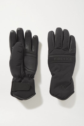 Bogner Fire & Ice Ilona Shearling-lined Padded Leather And Shell Ski Gloves