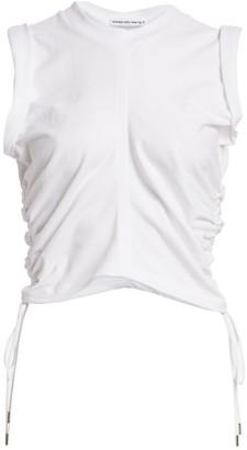 Alexander Wang Ruched Crop T-Shirt