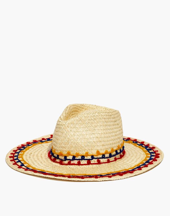 896e88abc Brixton Joanna Embroidered Straw Hat