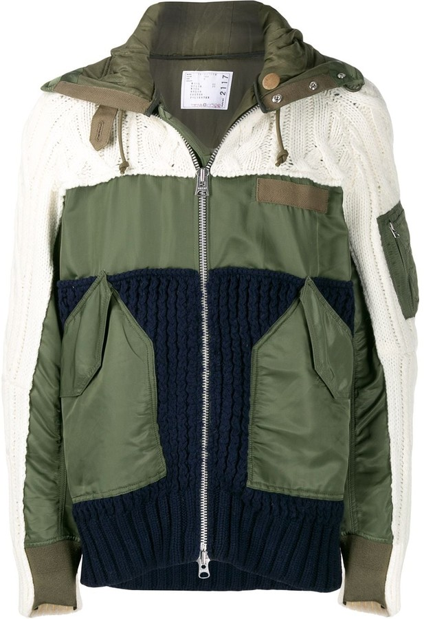 fe83a504c panelled zip-up jacket