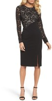 Maggy London Women's Mix Media Sheath Dress