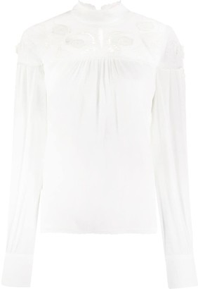 See by Chloe Frilled Collar Embroidered Blouse