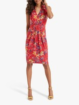 Phase Eight Camilla Floral Sleeveless Dress, Fiery Red/Multi