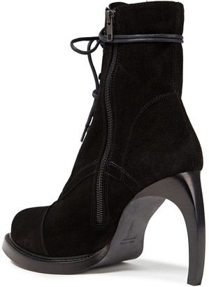 Ann Demeulemeester Lace-up Suede Ankle Boots