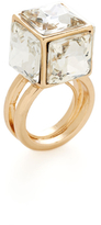 Kenneth Jay Lane Cube Stone Statement Ring