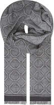 Eton Geometric Modal And Cotton-blend Scarf