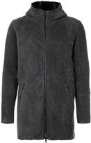 Giorgio Brato panelled hooded coat