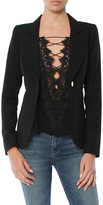 Smythe Wool One Button Duchess Blazer