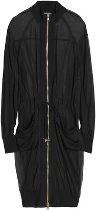 Balmain Grosgrain-trimmed Knitted Jacket