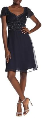 Marina Cap Sleeve Beaded Dress