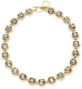 ABS by Allen Schwartz Gold-Tone Crystal Toggle Collar Necklace