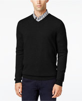 Club Room Big and Tall Cashmere V-Neck Solid Sweater