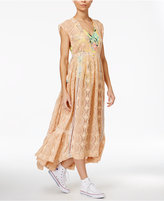 Free People Shine On Lace Sequined Dress