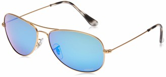Ray-Ban Unisex RB3562 Chromance Lens Pilot Sunglasses Gold Frame/Blue Mirror Lens (112/A1)