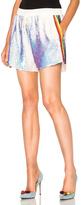 Ashish Sequin Shorts w/ Rainbow Stripe