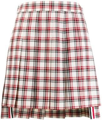 Thom Browne RWB check-print skirt