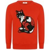 MSGM MSGMGirls Red Cat Sweater