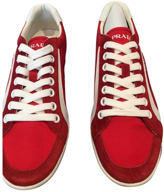 Prada Red Suede Trainers