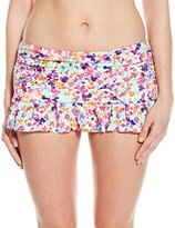 Kenneth Cole Reaction Women's Don't Mesh with Me Skirted Bikini Bottom