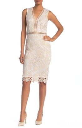 Love by Design Lace & Lattice Midi Dress