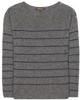 Loro Piana Shepherd Striped Cashmere And Silk Sweater